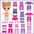 Paper doll with clothes set — Stock Vector #25283641