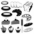 Set of baking and bread.  — Stock Vector