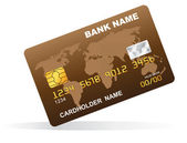 Vector illustration of a plastic credit card. — Stock Vector