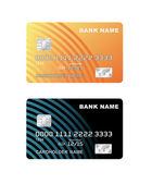 Illustrazione vettoriale di una carta di credito di plastica. — Vettoriale Stock