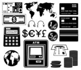 Financial, bank set of icons. — Stock Vector