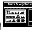 Black icon of shop of fruit — Stock Vector