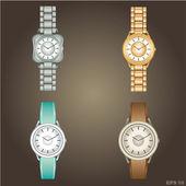 Reloj de pulsera. — Vector de stock