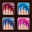 Set of icons of women's manicure. — Stock Vector #30322241