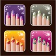 Set of icons of women's manicure.0 — Stock Vector #30322245