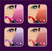 Makeup icons. — Stock Vector