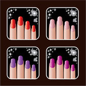 Set of icons of women's manicure. — Stock Vector