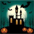 Halloween Scenery. — Stock Vector