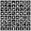 Set of supermarket symbols — Stock Vector