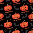 Stock Vector: Seamless halloween pattern.