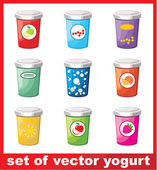 Set Of Yogurt — Stockvector