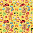 Stock Vector: Seamless toys pattern.
