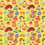 Seamless toys pattern. — Stock Vector