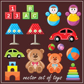 Set of toys — Stock Vector