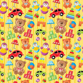 Seamless toys pattern. — Stock Vector