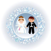 Greeting card with a wedding. — Stock Vector