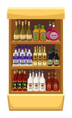 Shop alcoholic beverages. — Vettoriale Stock