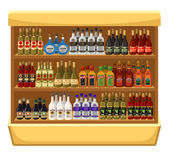 Shop alcoholic beverages. — Stockvector