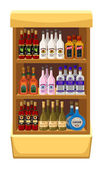 Shop alcoholic beverages. — Stock vektor