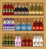 Shop alcoholic beverages. — Stok Vektör