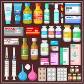 Seth léků — Stock vektor