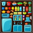 Постер, плакат: Set of kitchen furniture Kitchen items