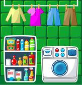 Washing room.  — Stock Vector