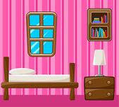 Bedroom. Interior. — Stock Vector