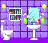 Casa de banho. — Vetor de Stock