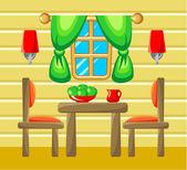 Dining room interior.  — Stock Vector