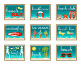 Beach set icons.  — Stock Vector