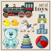 Set of vintage toys.  — Stockvektor