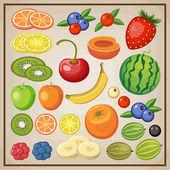 果物。ベクトル — ストックベクタ