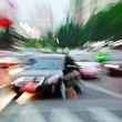 High speed cars radiant rays gives forceful effect of visual impact — Stok Fotoğraf #14135750