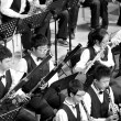 Student symphonic band of High School — Stock Photo