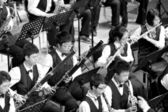 Student symphonic band of High School — Stock Photo