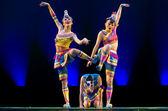Pretty chinese dancing girls — Stock Photo