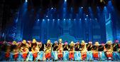 Chinese Tibetan ethnic dancers — Stock Photo