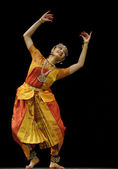 Indian Kalakshetra dancer — Stock Photo