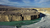 The Taolai river grand canyon in Jiayuguan,china — Stock Photo
