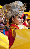 Chinese ethnic dancer of Yi nationality — Stock Photo