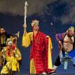 Постер, плакат: Chinese traditional opera actor with theatrical costume