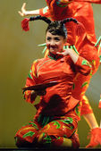 Pretty chinese dancing girl — Stock Photo