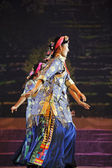 Chinese Tibetan ethnic dance — Stock Photo