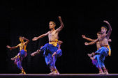 Indian folk dance performed by Kalakshetra dance institute of In — Stock Photo