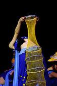 Chinese national dancer — Stock Photo