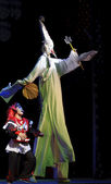 Clown of Chinese traditional opera performance — Stock Photo