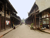 Alley of an chinese traditional old town — Stock Photo