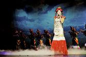 Chinese ethnic singer of Yi nationality — Stock Photo