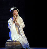 Pretty chinese traditional opera actress with theatrical costume — Stock fotografie